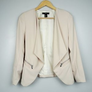 H&M Blush Pink Casual Open Front Blazer